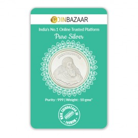 Zarathushtra Silver Coin of 10 Gram in 999 Purity / Fineness by Coinbazaar