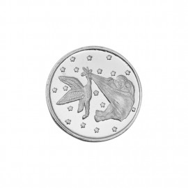 New Born Baby Silver Coin of 25 Gram in 999 Purity / Fineness