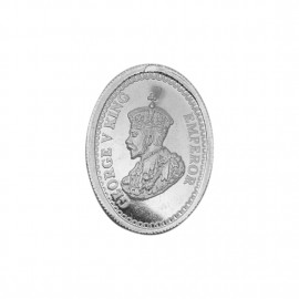 George V King Oval Shape Silver Coin of 10 Gram in 999 Purity / Fineness -by Coinbazaar