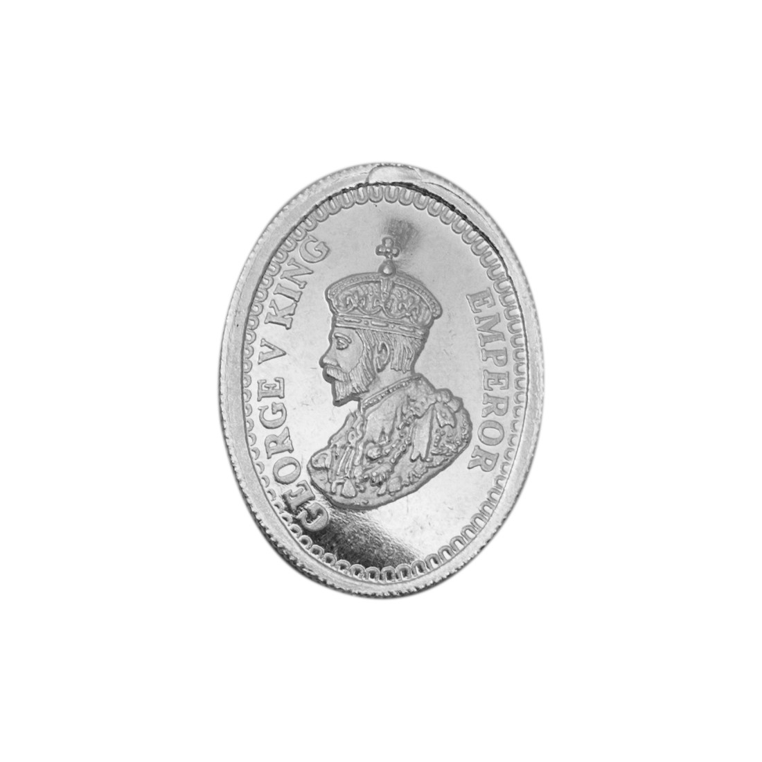 Buy George V King Oval Shape Silver Coin Of 10 Gram In 999