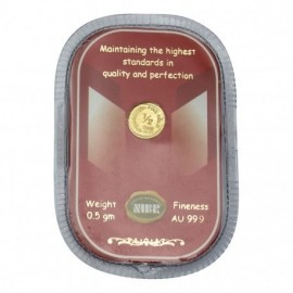 NIBR Gold coin of 0.5 Grams in 24Kt 999 Purity / Fineness - 0.5 gm / 0.5 grams
