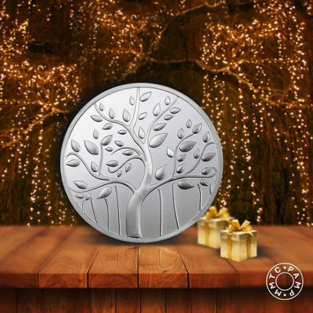 MMTC PAMP Silver Coin Banyan Tree of 10 Gram in 999.9 Purity / Fineness