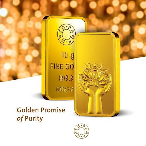Buy Mmtc Pamp Gold Ingot Bar Of 10 Grams In 24 Karat 999 9