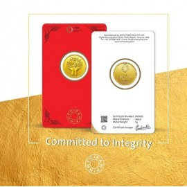 MMTC-PAMP Gold Coin of 5 Grams 24 Karat in 9999 Purity / Fineness